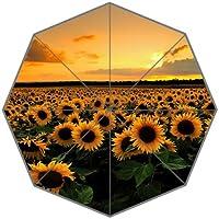 Sunflower leicht Regenschirm für Kinder Teenager und Erwachsene