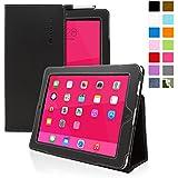 Étui pour iPad 2, Snugg™ - Housse de Protection en Cuir Noir, Style Smart Case Avec Garantie à Vie Pour Apple iPad 2