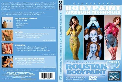Roustan Body Paint Airbrush Techniques Tutorial DVD - Airbrush Dvd