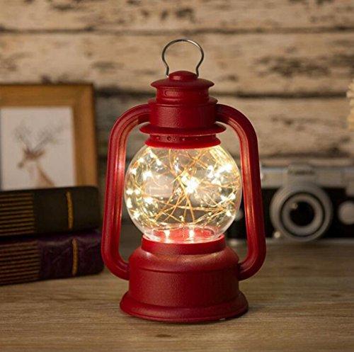 Inconnu LED Kérosène Cuivre Fil Hurricane Lampe De Chevet Décoration Rétro Décoration Nuit Lumière Lampe De Table