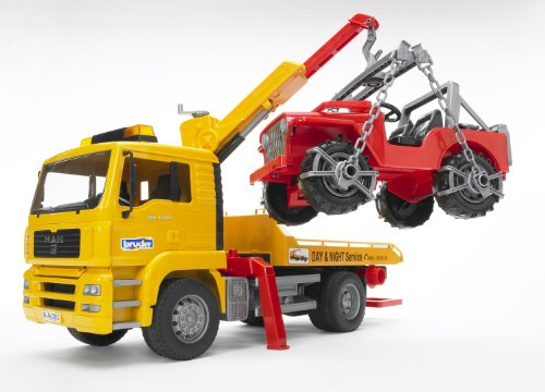 Image of Bruder 2750 Man TGA Breakdowntruck with Cross Country Vehicle