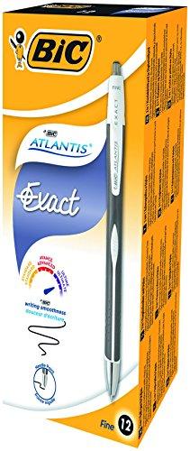 bic-atlantisexact-penna-a-scatto-punta-ad-ago-da-07-mm-confezione-da-12-pezzi-colore-nero