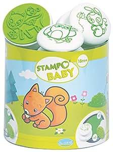 Aladine - 03815 - Tampon À Imprimer - Stampo Baby - Animaux De La Foret