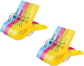 Vicloon Badetuch Clips 12 Stück Große Wäscheklammern Handtuchklemmen Strandtuchklammern Clips Winddicht Klammern auf Strand und Sonnenliegen für Wäsche Strandtuch, Badetuch, Teppich