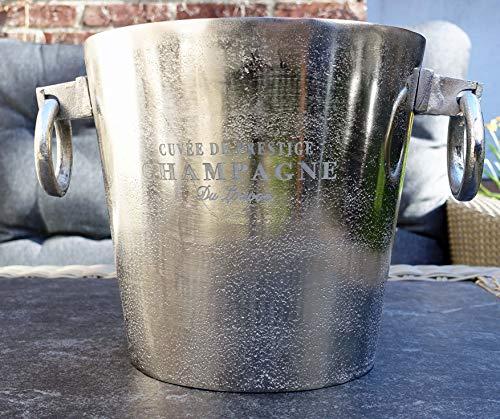 Michael Noll Champagnerkühler, Weinkühler, Flaschenkühler, Aluminium, Silber, S, M, L, 20 cm, 23 cm, 32 cm (32x24x23)