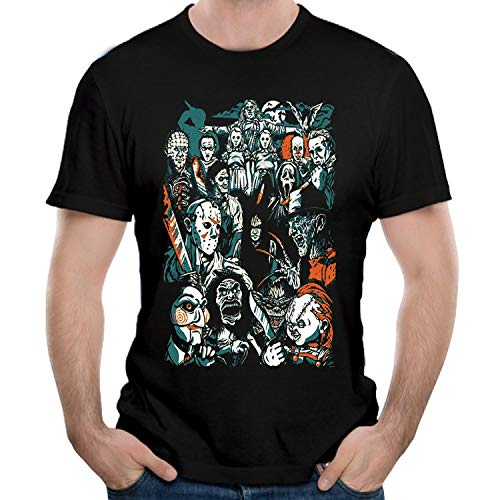 HSPTX® Halloween Michael Myers Men's T-Shirts Short Sleeve Tees & Tops Clothing
