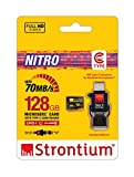 Strontium 128 GB Nitro 70Mbps MicroSD Card with Type-C Reader