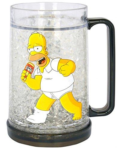 Simpsons Homer Simpson Bierkrug mit Kühlfunktion 400 ml - Bier-Glas Krug (Bier Homer)