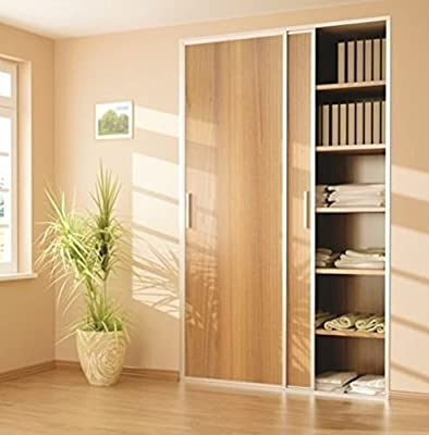 Sliding Wardrobe 2 Door 1500mm Twin Track Gear System ARES 2 Roller Internal Cupboard 70kg - inexpensive UK wordrobe shop.