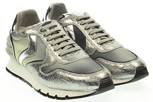 VOILE BLANCHE donna sneakers basse JULIA POWER argento-nero 37 Argento-Nero