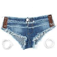 Delicacydex MEILEIYA Verano Mujeres Pantalones Cortos de Mezclilla de Noche de Moda Club Party Sexy Señora Mujeres Pantalones Cortos Jean Sólido 609#