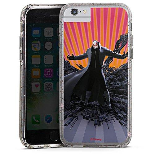 Apple iPhone 6s Bumper Hülle Bumper Case Glitzer Hülle Disney Baymax Professor Callaghan Merchandise Bumper Case Glitzer rose gold
