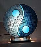 Asiatische Tischleuchten Yin Yang Dot Blue S (LA12-89/BL/S), Tischlampen, Designer Stimmungsleuchten, Bali