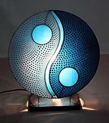 Idea Regalo - Lampada da tavolo asiatica Yin Yang Dot Blue S (LA12-89/BL/S), Designer Bali luce della decorazione