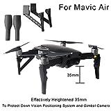 Sisit MAVIC Air Augmente le Trépied, Extension 4PCS 35mm d'atterrissage Jambes de vitesse Les pieds Intensifier Protecteur Pour DJI Mavic Air (Noir)