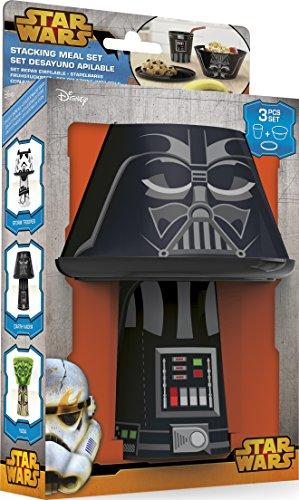 51S2r%2Bl5opL - Disney Star Wars Darth Vader Stacking Meal Set (Red/Black)