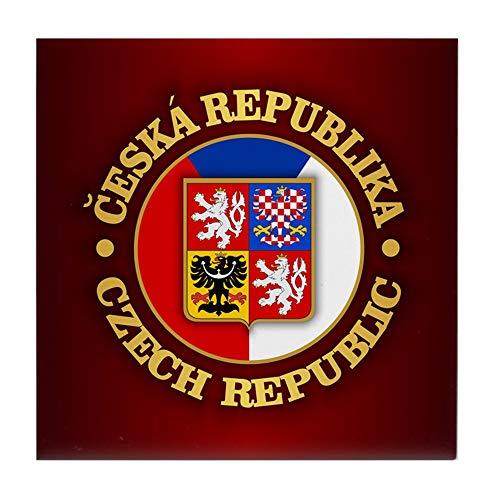 CafePress Tschechische Republik Fliesenuntersetzer, Getränke-Untersetzer, Kleiner Untersetzer -