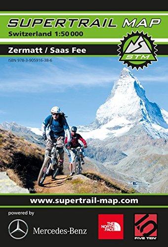 Supertrail Map Zermatt / Saas Fee: Maßstab 1:50 000