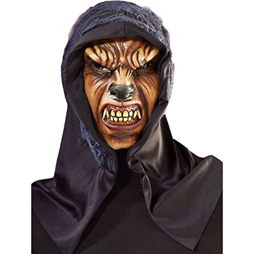 Hooded Wolf Adult Costume Mask