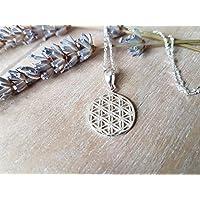Blume des Lebens - Silber Halskette
