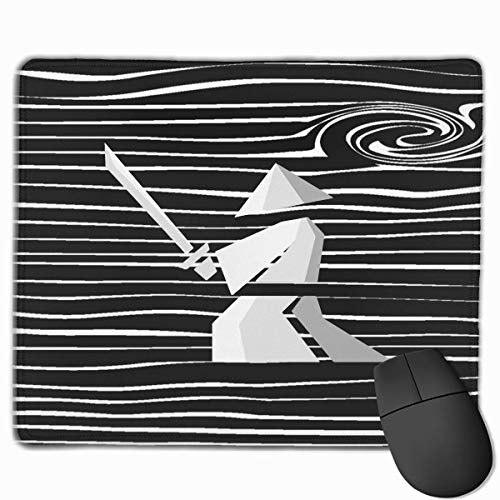 Japanese Samurai Novelty Mouse Gaming Mouse Pad Non-Slip Smooth Desk Mat Washable Material 7.1 x 8.7 Inches(18x22CM)