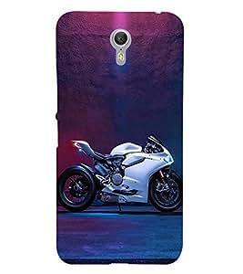 FUSON White Sports Bike 3D Hard Polycarbonate Designer Back Case Cover for Lenovo ZUK Z1