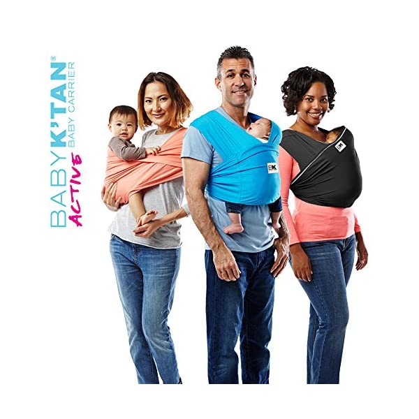 Baby K'tan Carrier (X-Large, Ocean Blue Active) Baby Ktan Easy to use and put on: NO WRAPPING INVOLVED.  6 positions to conveniently carry baby & toddlers from 8 lbs to 35 lbs Hi-tech fabric blocks over 90% of UVA & UVB rays Unique HYBRID double-loop design holds baby securely and evenly distributes weight across back and both shoulders. Washer & dryer safe 4