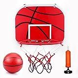 Aro de baloncesto mini juego, juguete de baloncesto colgar tablero de baloncesto (con pelota y bomba