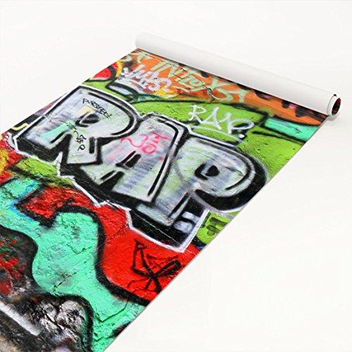 Klebefolie Kinderzimmer - Graffiti Wall - Selbstklebefolie, Dekorfolie, Möbelaufkleber, DIY Designfolie, Sticker, Meterware