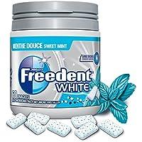 Freedent - White Box - Dragées - Chewing-gum sans sucres au goût menthe douce - La boîte de 84g - Prix Unitaire...
