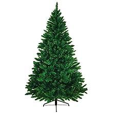 BB Sport Christbaum Weihnachtsbaum PVC 180 cm Mittelgrün Tannenbaum Künstlich Standfuß Klappsystem