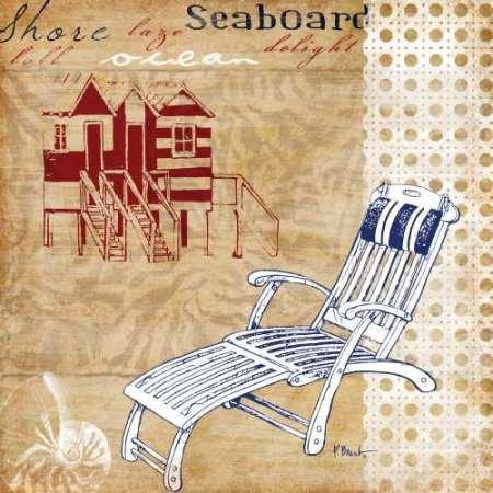 Feeling-at-home-Kunstdruck-Cabana-Beach-amerikanische-Collage-II-cm71x71-Poster-fuer-Rahmen Cabana Beach Stuhl