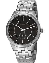 Pierre Cardin PC106571F07 - Reloj para hombres, correa de acero inoxidable color plateado