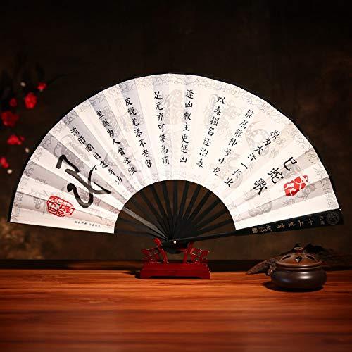 XIAOHAIZI Handfächer,Sommer Bambus Fan Sternzeichen Schlange Retro Chinesischen Stil Männer Geschenk Faltfächer Für Zuhause Wanddekoration