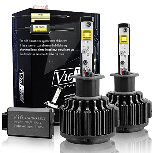 Preisvergleich Produktbild Wiseshine h3 canbus LED birne lampen zum autolampen 7200lm 60W 6000K kühles weiß CREE 3 Jahre Garantie