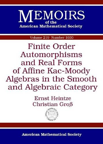 Finite Order Automorphisms and Real Forms of Affine Kac-Moody Algebras in the Smooth and Algebraic Category (Memoirs of the American Mathematical Society, Number 1030, Band 219)