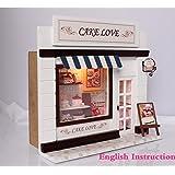DIY de madera casa de muñecas en miniatura de artesanía kit-cake habitación modelo y muebles