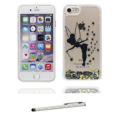 "Coque iPhone 6, iPhone 6s étui Cover (4.7""), Bling Glitter Fluide Liquide Sparkles Sables iPhone 6 Case (4.7""), (fée) Fariy Shell anti- chocs et stylet fée"