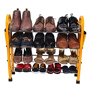 PRO365 12 Pair Economical Metal Shoe Rack – 4 Layers