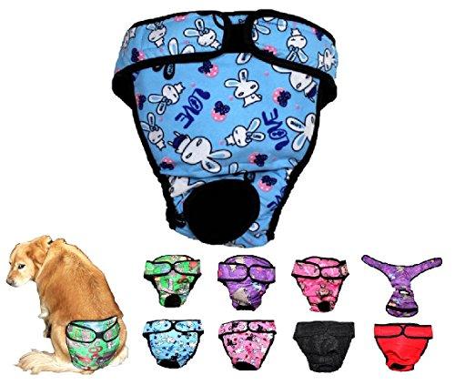 FDC Hund Windel Wiederverwendbar Waschbar Weiblich Mädchen für Mittlere und Große Großen Hund Rassen Größe L, XL, XXL Versand 2-4Tage, Large: Waist 20