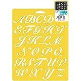 "Stencil Mania Stencil 7""X10""-Script Alphabet"