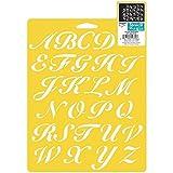 Delta Creative, 7Stencil da 25,4cm, Lettere dell'alfabeto, 970660710