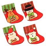 Vosarea 12 Stücke Mini Weihnachtsstrümpfe Filz Nikolausstiefel Bestecktasche Besteckhalter Weihnachtsanhänger Christbaumanhänger Weihnachten Geschenkbeutel Weihnachtsdeko zum Aufhängen