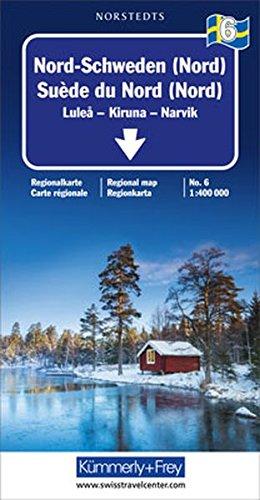 Carte routière : Suède Nord (Nord)