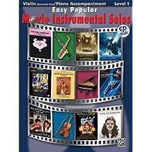 Easy Popular Movie Instrumental Solos - Violin And Piano Accompaniment. Partituras, CD para Violín, Acompañamiento de Piano