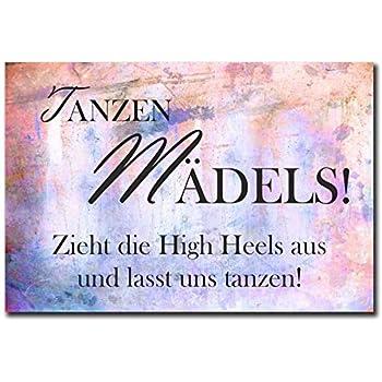 Metallschild blech t rschild tanzen m dels hochzeit - Tanzen spruch ...