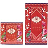 Chinese Wedding hongbao – 2 Size – Red Envelope for Wedding Gifts, multicolor, Abmessung: 9 x 9 cm