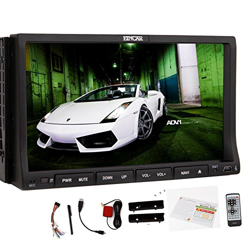 EinCar Android 5.1 Lollipop GPS Navigation kapazitiver Touchscreen Doppel-DIN-BT Audio Auto-Radio in der Schlag-CD-DVD-Player Auto Stereo Auto-Video-System Head Unit-Empf?nger-PC Wi-Fi-Logo Mirroring SD Karte Card 4-Core-CPU