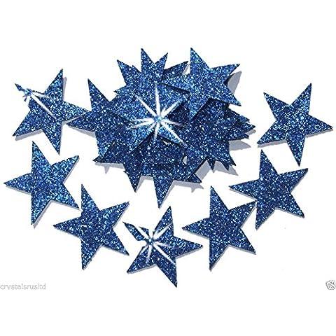 25mm Self Adhesive Glitter Star Sticker card making craft Diy christmas blu