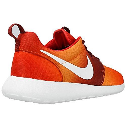 Nike Herren Roshe One Print Laufschuhe Orangefarbig-Weiß